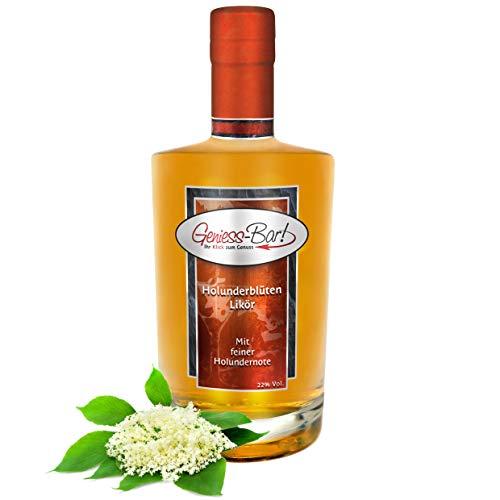 Holunder Blüten Likör 0,7L mit wunderbarem Holunderblüten Aroma 22% Vol. Holunderblütenlikör Geschenkflasche