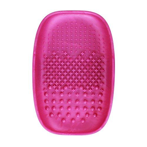 Vinallo Brosse de Maquillage Cleaner Brosse de Maquillage Cleaner Pad Tapis de nettoyage à brosse Cosmétique Portable à laver Outil Scrubber