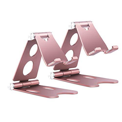 Soporte para teléfono, Vetoo plegable de aluminio de 270 °, compatible con teléfono celular 11 Pro Xs Max XR X 8 7 6S Plus, Nintendo Switch, HUAWEI, Samsung S10 S9 S8 S7, Tablet 4-10 pulgadas