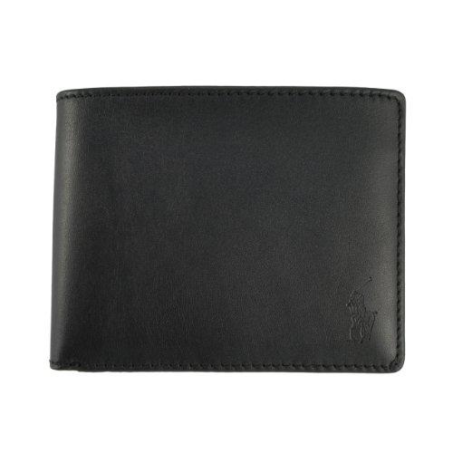 Polo By Ralph Lauren Men's Passcase Leather Wallet Black