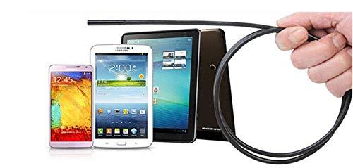 Cocoarm Endoskop Kamera IP67 Wasserdichtes Endoskopkamera 7mm Digital Inspektionskamera Flexible Video Boreskop mit 6 LED Licht für Android Smartphone, Tablette, PC (1.5m)