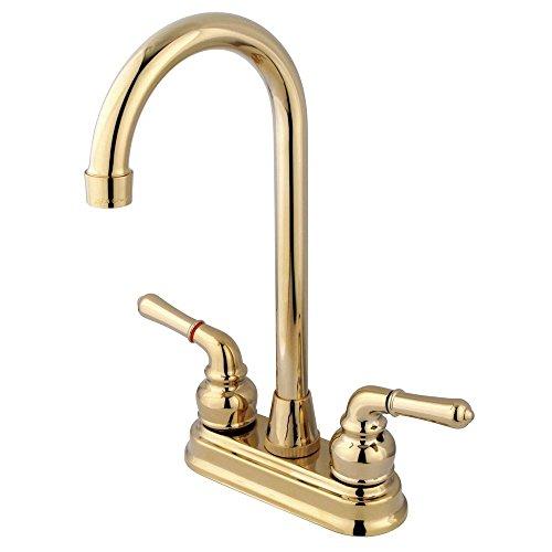 Kingston Brass KB492 Magellan 4' Bar Faucet, 4-3/4', Polished Brass