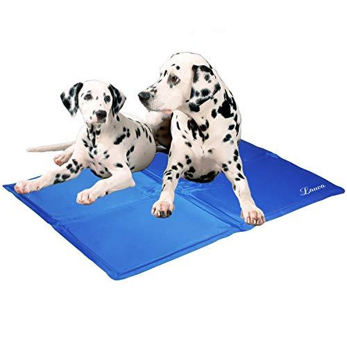 Lauva Tapis frais pour chien Animaux Dog Cool Mat, Chien Self Cooling Gel Mat Pads Pet Cat Cool Lits pour Caisses pour Chiens, Chat Chenils et lits - 25.6''X 20 (65*50CM)