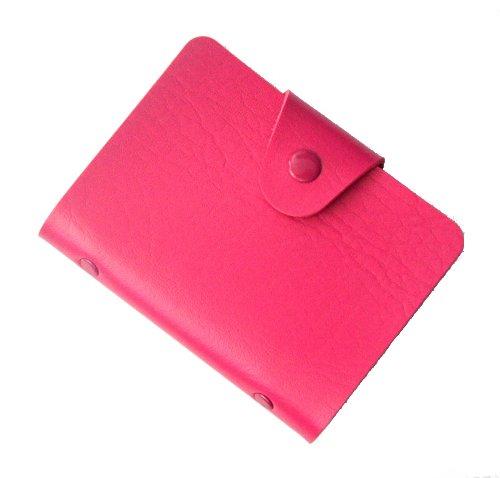 Brilliance Co Porta Carte Di Credito 24 Spazi (Rosa Rossa)
