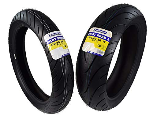 Buy Michelin Pilot Road 2 Sport Touring Motorcycle Front and Rear Tires Radial Sport Bike Road II 12...