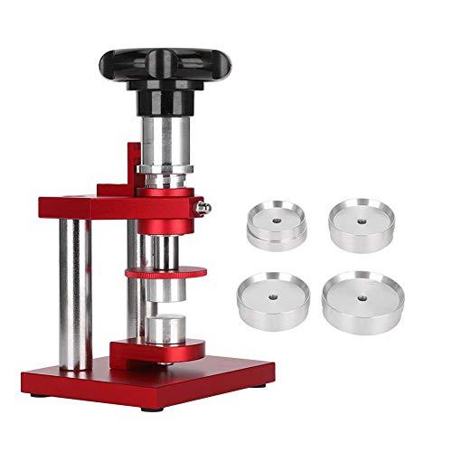 Kit de reparación de relojes, máquina taponadora en espiral Herramienta de presión de contraportada Máquina de cierre trasero Matriz de prensa de caja de reloj, herramienta de banco para