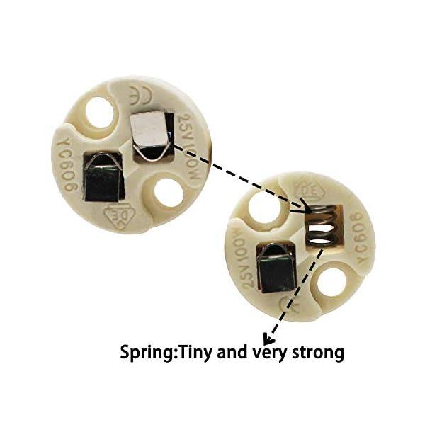DiCUNO-Bi-Pin-Basis-G4-G635-GY635-GX53-MR16-GZ4-MR11-Halogen-Glhlampen-LED-Sockel-Keramik-Lampenfassung