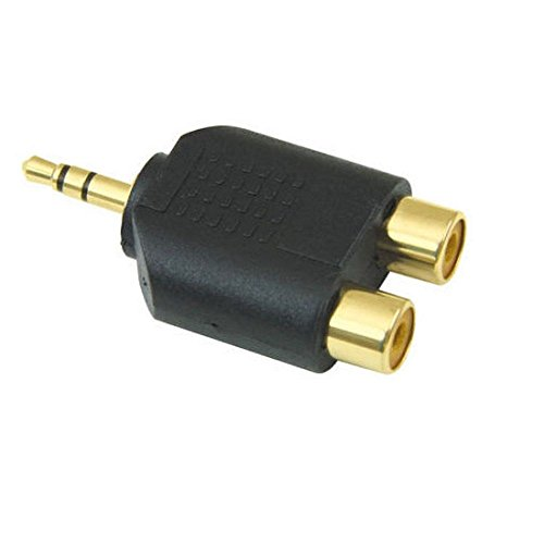 Jack RCA Adaptador / 3,5 mm Jack a 2 oro estéreo divisor en Y RCA...