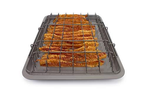 EaZy MealZ EZA-200B2 Bacon Rack & Tray Set XL Grey, Family Size for 2-5