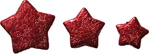 Chaks 02002-008, Boite de 50g d'Etoiles 3D, Rouge