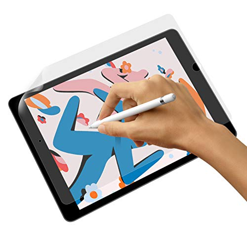 TOREDO (2 Pieces) Paperfeel Screen Protector for iPad 10.2 inch 7th & 8th Generation (2020 & 2019) | Matte Protector for Drawing and Taking Notes | Like Paper | Anti-Glare | Anti-Fingerprints | Compatible with Apple Pencil | With Easy Installation Kit |Scratch Resistant | Bubble Free