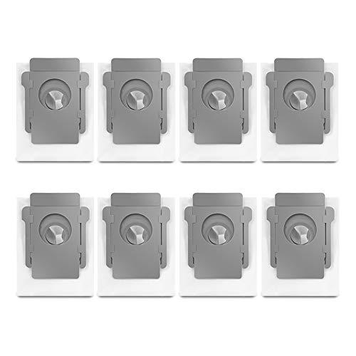 8pcs Sacchetti di Polvere per iRobot Roomba i7 i7+ / i7 Plus E5 E6 E7 S9 S9+ Robot Aspirapolvere, Automatico Smaltimento Sporco Sacchetti Ricambio di Accessori Kit per Clean Base Modelli