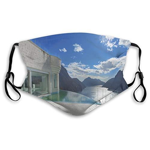 WiederverwendbareSicherheitsabdeckungen,Modern Summer Penthouse with Infinite Pool Ocean Sea Scenery Image,AllerLänderinPolyesterabdeckungen,S