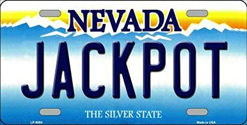 SIGNCHAT jackpot nevada state background novelty license plate license plate 15x30 cm