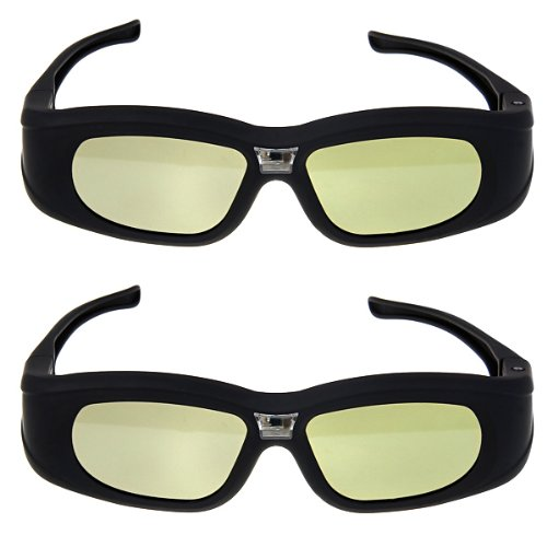 DLP-Link 3D Aktiv Shutter Brillen für Optoma ViewSonic Acer BenQ Dell Beamer (2 Pack)