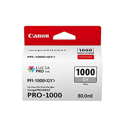 Canon Tintenpatrone PFI-1000 GY grau grey - 80 ml ORIGINAL für imagePROGRAF PRO-1000