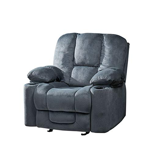 Christopher Knight Home Gannon Fabric Gliding Recliner, Steel