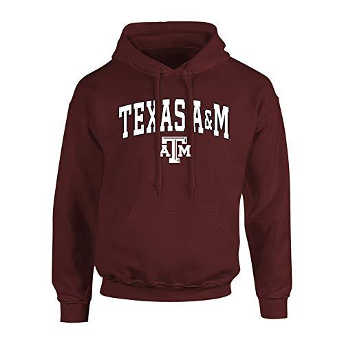 Elite Fan Shop Texas A&M Aggies Hooded Sweatshirt Arch Over Plus Size 2X 3X 4X 5X Maroon - XXX-Large