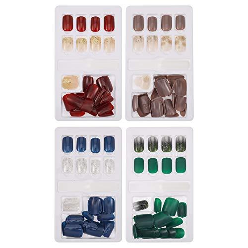 Smilcloud 120 Stk Falsche Nail Tips Künstliche Fingernägel Falsche Nägel Künstliche Fingernägel Fake Nail zum Aufkleben für Nagel Kunst Salon DIY Dekoration
