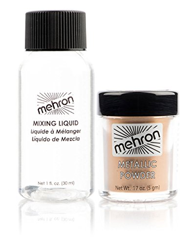 Metallic Powder .17 oz with Mixing Liquid 1fl oz - Gold by Mehron