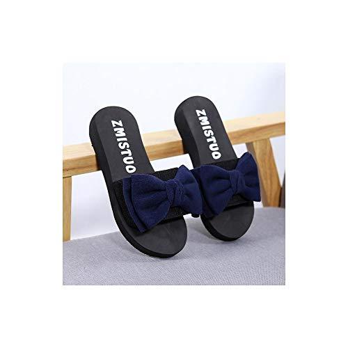 No brand Ciabatte con Fiocco in Raso Moda Slides Sandali Estivi da Donna Scarpe da Spiaggia incantevoliInfradito Casual Trendy Hot
