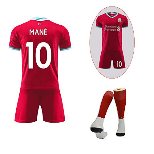 Temporada 2020-2021, Camisetas de Verano Personalizadas, Camisetas de competición Mane # 10 Van Dijk # 4, Uniformes de fútbol de Equipo, Hombres de casa, transpiración y Secado rápido, red4-XL
