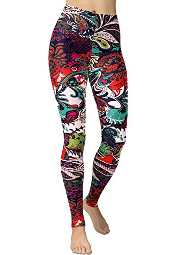 Regular Size Printed Leggings (Chromatic Splash)