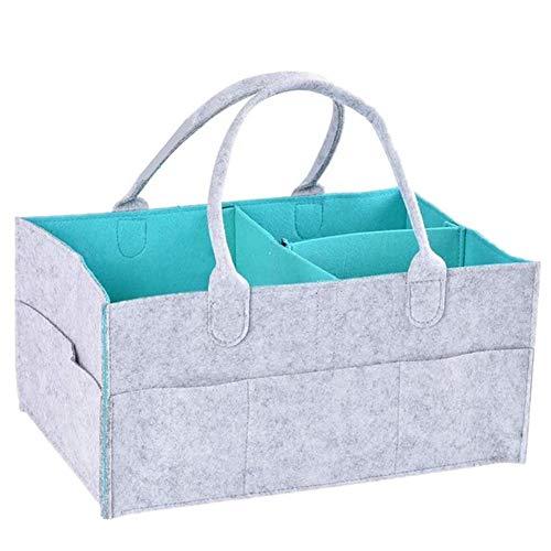 Cxssxling - Cesta de pañales para bebé (fieltro, plegable, 33 x 23 x 18,5 cm)