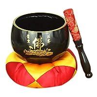 """HSBAIS チベットの歌うボウル、瞑想、チャクラヒーリング、ヨガ、心のリラクゼーション,17.5cm(7"""")"""