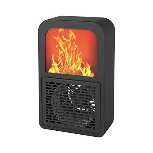 Wash Calentador eléctrico Chimenea, 2000W con Fuego Llama Efecto, Ajustable 3 Ajustes de Calor Independiente portátil de Registro eléctrico Estufa de leña Efecto