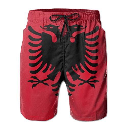 Badeshorts Erster Ring Europa Albanische Flagge Strandshorts Für Männer Badeanzüge Badeanzug Boardshorts-XX-Large-,