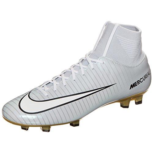 Nike Mercurial Victory Vi CR7DF FG–Botas de fútbol para Hombre, Hellgrau/weiß