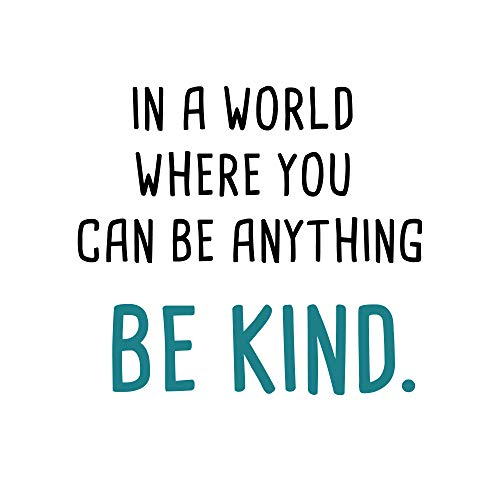 GULIGULI in a World Where You Can Be Anything Be Kind-Inspirational Quotes Wall Decals-Vinyl Stickers for Bedroom Living Room School Office Home Decor
