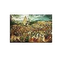 ピーテルブリューゲルアートパネルワークキャンバス絵画インテリア古典的な写真壁アートパネル風景ポスターとダイニングルームのプリントホームモダンな装飾70x100cmフレームなし