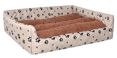 Cama para perros Perros cesta Aruba Plus Beige/Marrón M–70cm x 60cm w33406