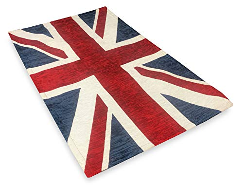 Tex family Tapis drapeau anglais Flag Angleterre antidérapant, 60 x 110 cm