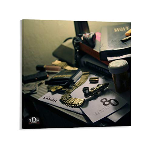 SDFX Hip Hop Rapper Kendrick Lamar Section.80 Album Cover Canvas Art Poster and Wall Art Picture Print Modern Family Bedroom Decor Posters 24x24inch(60x60cm)