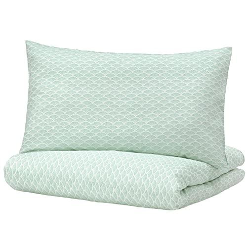 IKEA Ofelia - Funda de edredón y funda de almohada, color turquesa claro