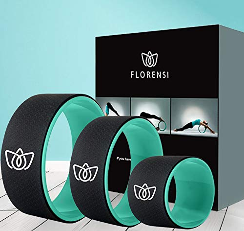 Florensi Yoga Wheel (3-Pack), Back Roller for Muscle Relaxation, Stretching Back Wheel for Pain Relief, Back Pain, Massages, Cracking and Popping, Multifunctional Yoga Wheel Back Wheel