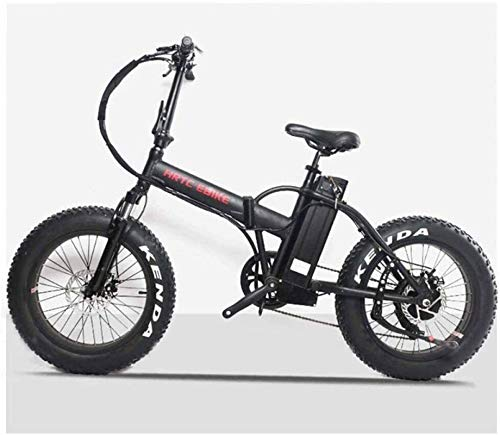 Alta velocidad Bicicletas eléctricas rápidas for adultos de 20 pulgadas de nieve Bicicleta eléctrica 48V500W Motor LCD bicicleta eléctrica del neumático de nieve a caballo de ciclo de la batería de li