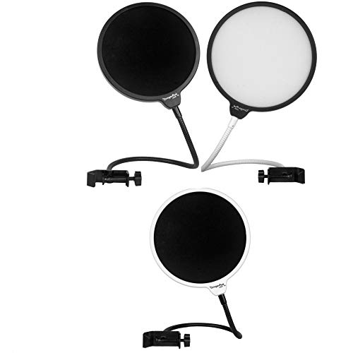 Dragonpad USA- 6' Microphone Studio Pop Filters with Clamp - 3 Color...