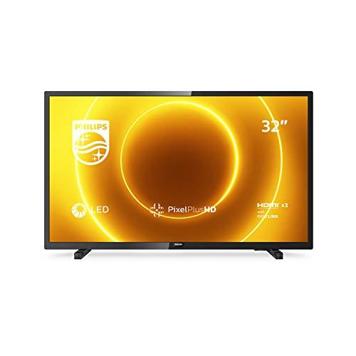 Philips TV 32PHS5505/12 32 Zoll-LED-Fernseher (Pixel Plus HD, Full-Range-Lautsprecher, 2 x HDMI, USB) Schwarz Glänzend [Modelljahr 2020]