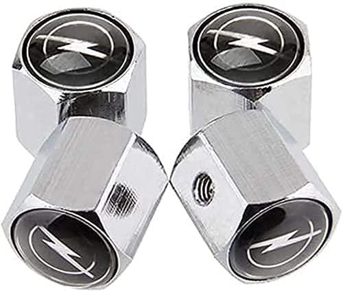 4 Piezas Coche Tapas de Válvula para Opel Opc H G J Corsa Insignia Astra Antara Zafira, Cubiertas Impermeables de Prueba de Polvo Tapones de Válvula de Neumáticos