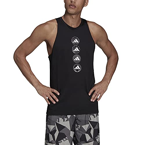 adidas Camiseta de Tirantes Marca Modelo Run Logo Tank M