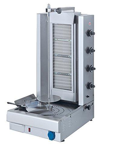 North Pro gaz North Pro Grec Gyros/Mug Doner/Kebab Machine (Propane-Butane), Acier Inoxydable, Meat Capacity: 75-100kg - Model:...