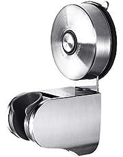 Yohom Douchekophouder met zuignap, wandhouder, voor handdouche, 4 modi, verstelbare hoek, accessoires voor badkamer, toilet zonder boren, geborsteld roestvrij staal