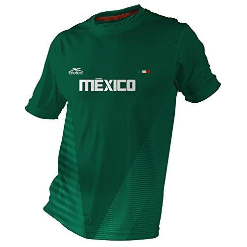 Atletica 2018 Jersey de México para Fans, Hombre, Verde, Mediano