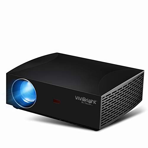 VIVIBRIGHT f30 1080P Projector, 1920x1080 Native Pixels, Consumer Class Video Entertainment Full HD Projector, 4200 White Light LED Brightness, SPDIF Interface with HiFi Sound Quality