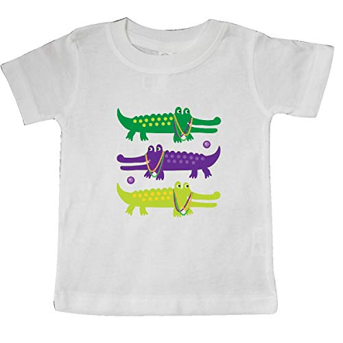 inktastic Mardi Gras Holiday Alligators Baby T-Shirt 18 Months White 393f5