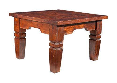 MASSIVMOEBEL24.DE Kolonialart Couchtisch 90cm Akazie massiv Möbel Oxford Geoffrey #427